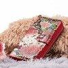 Женский кошелек с рисунком под змеиную кожу розового цвета - Wallet