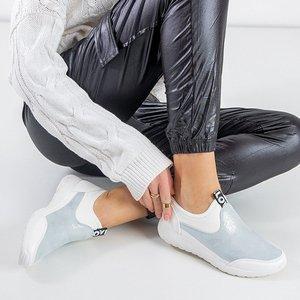 OUTLET Бело-серебристая женская спортивная обувь Jadena - Обувь
