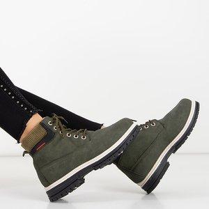 Женские утепленные ботинки в цвете хаки Triniti - Обувь