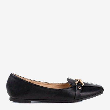 Балетки чорного кольору з орнаментом Boner toe - Взуття 1