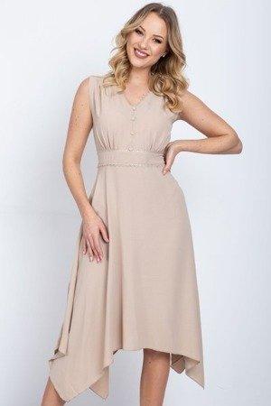 Бежеве розкльошене плаття - Одяг 1