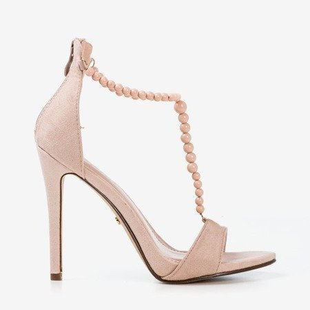 Бежеві босоніжки на високому каблуці Nastula - Взуття 1