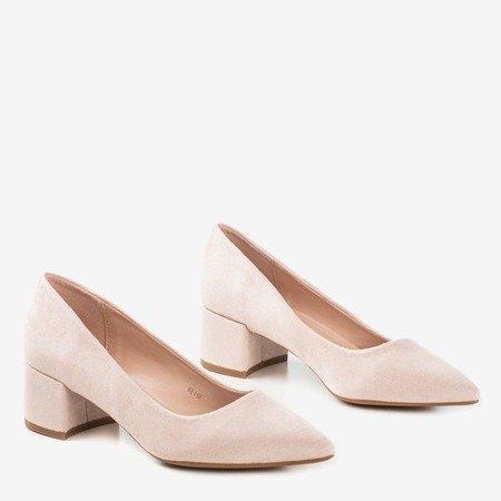 Бежеві насоси на низькій посаді Amee - Взуття 1
