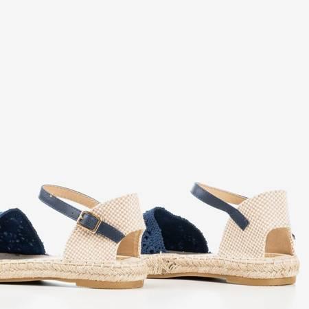 Босоніжки з еспадрилем темно-синього кольору з ажурною верхньою частиною Азії - Взуття