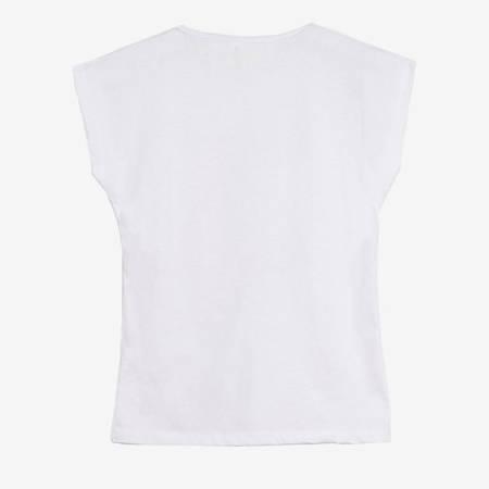 Біла футболка з принтом - Одяг 1