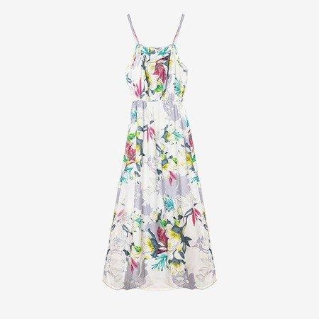 Біле плаття з бретелями - Одяг 1