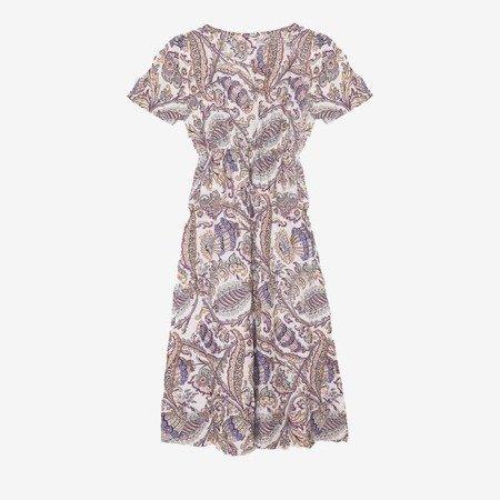 Біле плаття з візерунком - Одяг 1