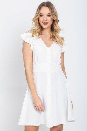 Біле плаття з гудзиками - Сукні 1