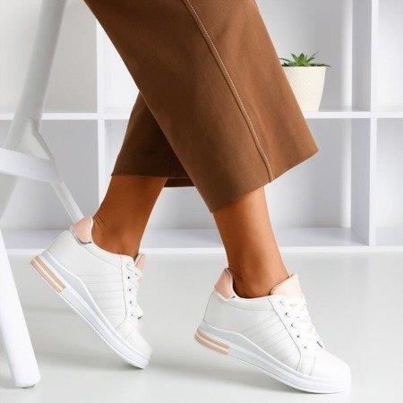 Біло-рожеві спортивні кросівки на прихованому клині Cefina - Взуття 1