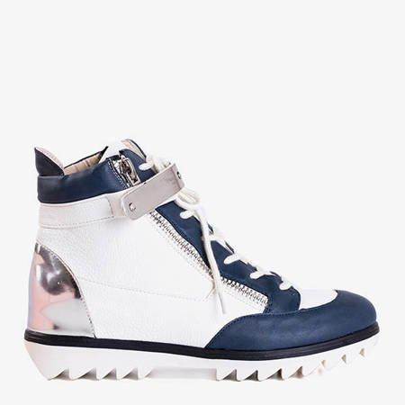 Білі спортивні черевики з синіми вставками Krillas