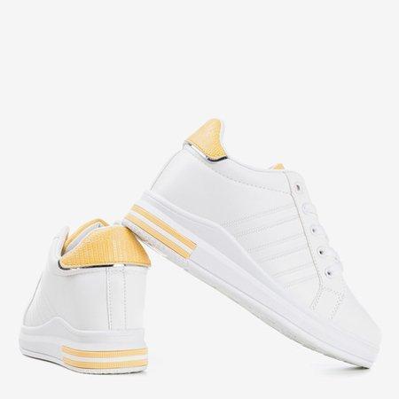Білі та жовті спортивні кросівки із прихованим клином Cefina - Взуття