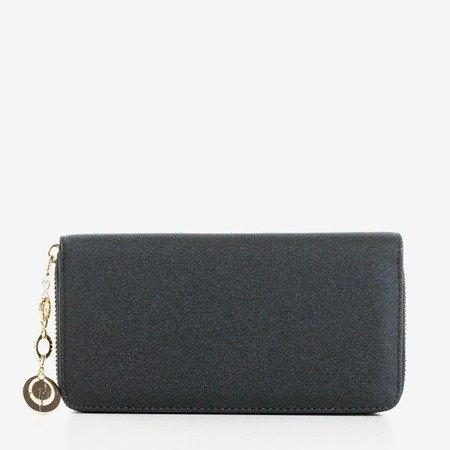 Великий глянсовий чорний гаманець для жінок - Гаманець