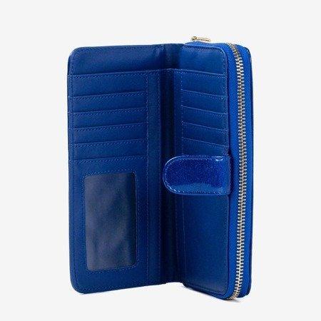 Великий жіночий гаманець із блакитного лаку - Гаманець