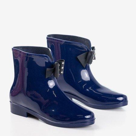 Дамські темно-сині дощові черевики з бантом Maiya - Взуття