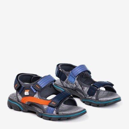 Дитячі сандалії сірого та темно-синього кольору від Bruno - Взуття