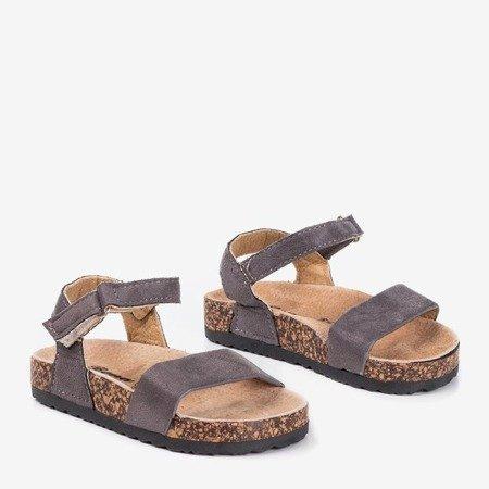 Дитячі темно-сірі босоніжки Bleu - Взуття 1