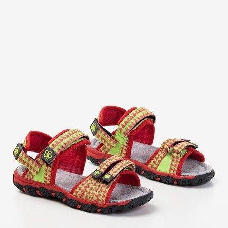 Дитячі червоні босоніжки з неоновими вставками Yoci - Взуття