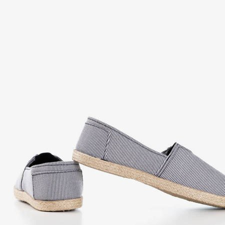 Ескадрильї з чорно-білої смугастої тканини Timsaio - Взуття