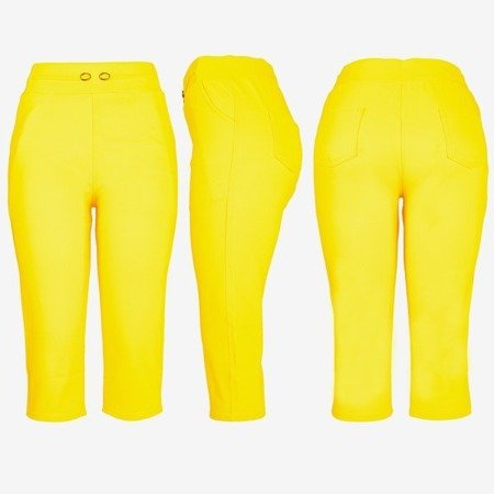 Жовті короткі гетри з краваткою - Штани 1