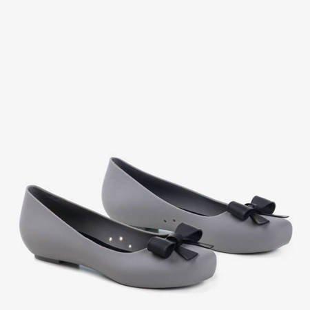 Жіноча сіра гума-меліса на прихованому клиновому каблуці Rasilia - Взуття