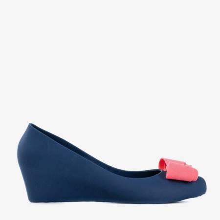 Жіноча темно-синя гумова меліса на клині Grawiti - Взуття