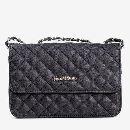 Жіноча чорна стьобана сумка-посланник - Сумочки