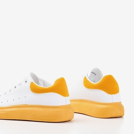 Жіноче біле спортивне взуття з гірчичниками Gulio - Взуття