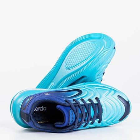 Жіноче бірюзове спортивне взуття на прозорій підошві Fusion - Взуття