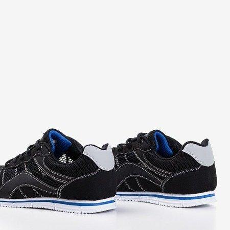 Жіноче чорне спортивне взуття з темно-синіми вставками Kannasi - Взуття