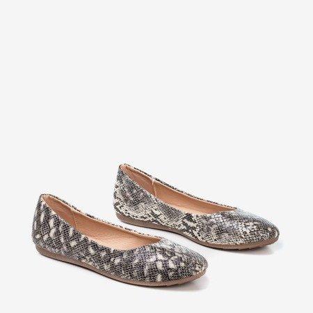Жіночі балерини зі змієної шкіри Rozita - Взуття