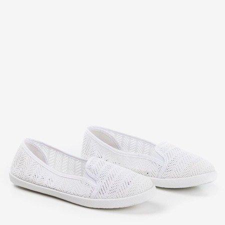 Жіночі білі сліпи-сліпи на Hessani - Взуття