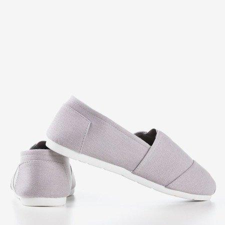 Жіночі сірі мокасини типу сліпони Slavarina - Взуття
