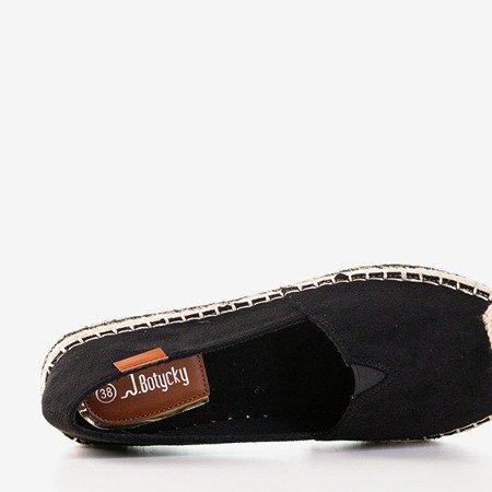 Жіночі чорні еспадрилі на платформі Bergen - Взуття