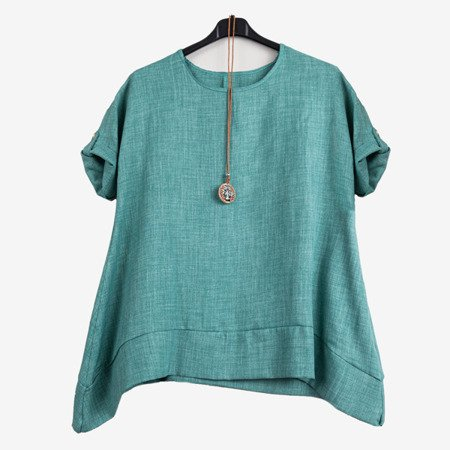 Зелена жіноча туніка - Блузки 1