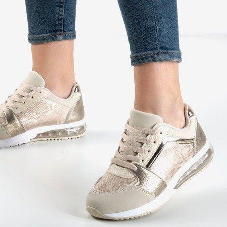 Золоте спортивне взуття зі зміїною шкірою Нав'язливість - Взуття 1