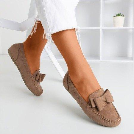 Коричневі мокасини для жінок з бантом Ursula - Взуття 1