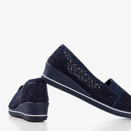 Кросівки темно-сині на низькому клині Faser - Взуття