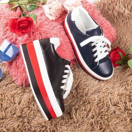 Кросівки темно-сині на платформі Dishye - Взуття 1