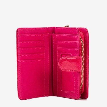Лакований маленький жіночий гаманець кольору фуксії - Гаманець