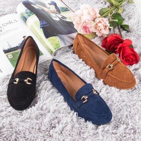 Лофети темно-сині серафінові для жінок - Взуття 1