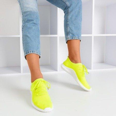 Неонове жовте жіноче спортивне взуття Noven - Взуття