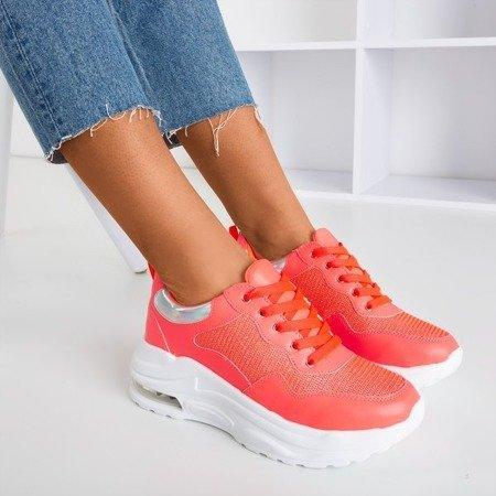 Неонові оранжеві спортивні кросівки з голографічними вставками з пігулок - Взуття 1