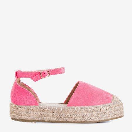 Неонові рожеві еспадриси на платформі Maritel - Взуття