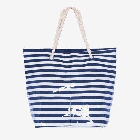 Пляжна сумка темно-синя смугаста - Сумки
