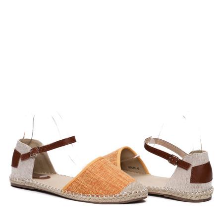Помаранчево-бежеві еспадрилі- Взуття 1