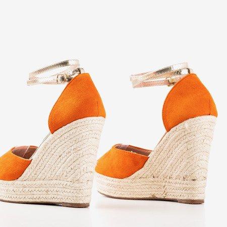 Помаранчеві еспадрільї на високому клині Sablac - Взуття