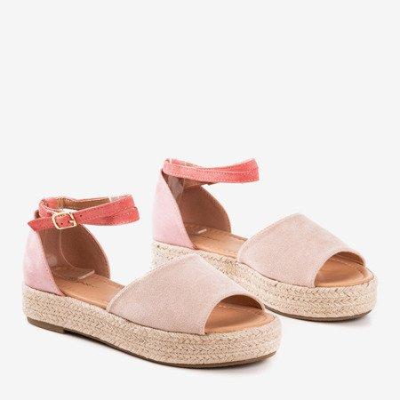 Рожеві жіночі босоніжки еспадрільї a'la Справді ваше - Взуття
