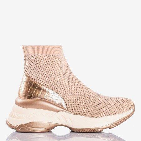 Рожеві жіночі спортивні туфлі з верхньою носкою a'la Golden носок - Взуття 1