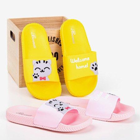 Рожеві жіночі тапочки з кішкою Cattus - Взуття 1