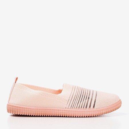 Рожеві ковзаючі смугасті кросівки Yeques - Взуття 1